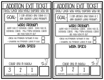 Gold Star Exit Tickets: Addition with Regrouping