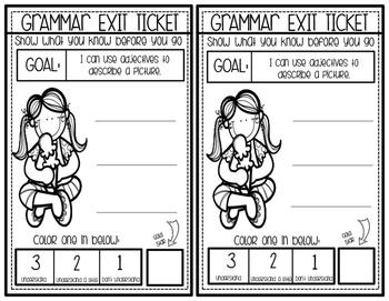 Gold Star Exit Tickets:  Grammar