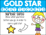 Gold Star Exit Tickets: Number Sense