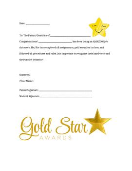 Gold Star Letter