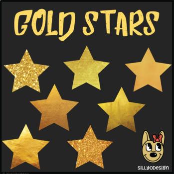 Freebie Gold Stars Clip Art