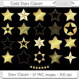Gold Stars Clipart Golden Foil Stars Clip Art Silhouette S