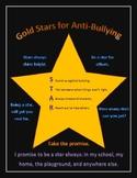 Gold Stars for Anti-bullying promise poster