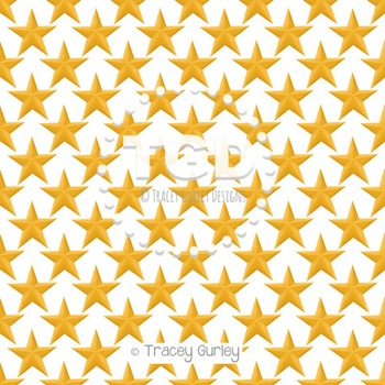 Gold Stars on White digital paper Printable Tracey Gurley Designs
