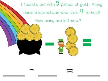 Gold Subtraction - St. Patrick's Day
