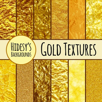 Gold Textures Clip Art for Commercial Use