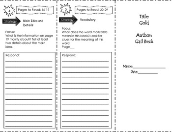Gold Trifold Benchmark Literacy Unit 1 Grade 3
