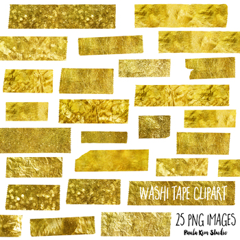 Gold Washi Tape Clipart
