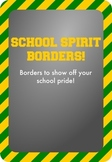 Gold / Yellow and Green - School Spirit Borders 4 Pack