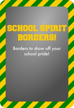 Gold / Yellow and Green - School Spirit Borders 9 Pack