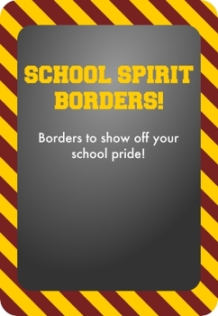 Gold / Yellow and Maroon - School Spirit Borders 9 Pack