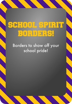 Gold / Yellow and Purple - School Spirit Borders 4 Pack