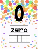 Gold and Confetti Dots Number Line