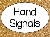 Gold and Confetti Hand Signal Posters--FULL SHEET