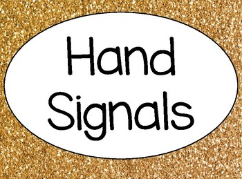 Gold and Confetti Hand Signal Posters--HALF SHEET