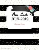 Gold and Floral 2018/19 Teacher Planner Binder