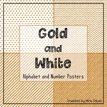 Gold and White Class Decor Posters