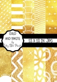 Gold and White Paper Pack - Gold Shine