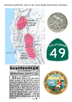 Gold in California 1848-55 Word Search