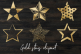 Gold stars clipart