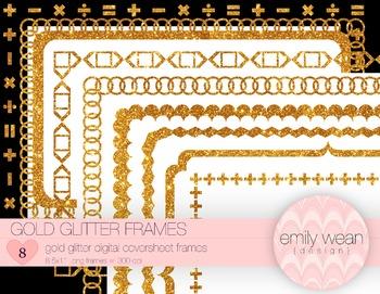 GoldGlitter Digitial .PNG Frames