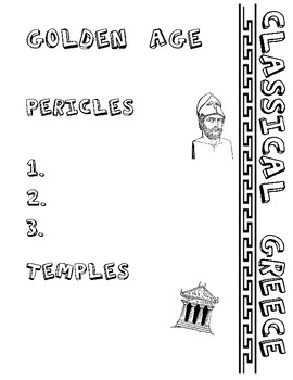Golden Age of Greece Doodle Notes - Ancient Greece #3