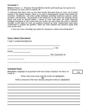Day 031_Golden Age of Islam - Lesson Handout