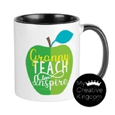 Golden Apple, Granny Apple and Pink Delicious Teach Inspire Love Mug PREVIEW