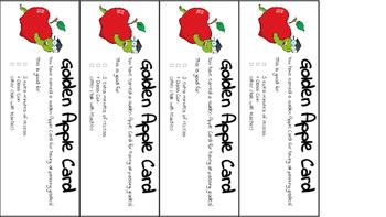 Golden Apple Rewards Tickets