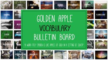 Golden Apple Vocabulary Bulletin Board