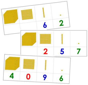 Golden Bead Task Cards - Montessori