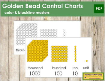 Golden Beads Control Chart and Blackline Masters