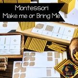 Montessori math: Golden Beads 'Make me' for Bank Game