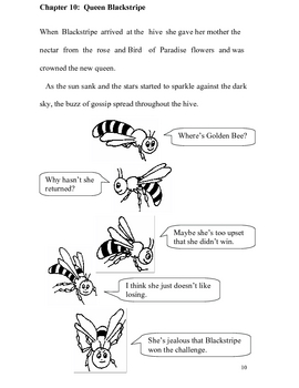 Golden Bee and Blackstripe - Story and Worksheets
