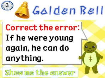 Golden Bell Quiz (Second Conditional)