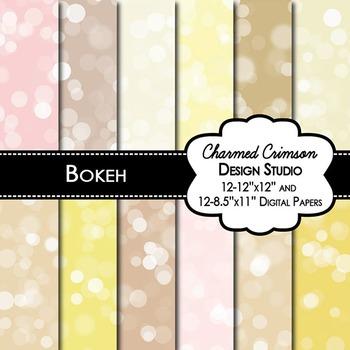 Golden Bokeh Digital Paper 1301