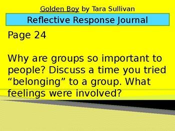 Golden Boy by Tara Sullivan - Reflective Response Journal