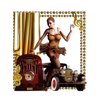 Golden Brown Vintage Scrapbook transparent commercial use clip art graphics