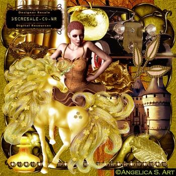 Golden Brown Vintage Scrapbook transparent commercial use