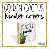 Golden Cactus Binder Covers & Spines {Editable}