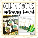 Golden Cactus Birthday Display Board