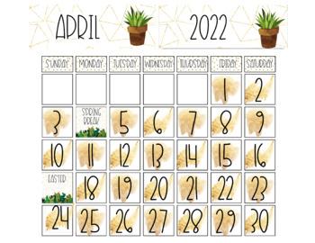 Golden Cactus Classroom Decor Bundle {Growing}