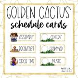 Golden Cactus Classroom Schedule Cards
