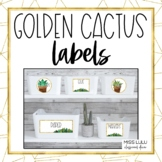 Golden Cactus Labels {Editable}