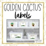 Golden Cactus Labels {Editable}