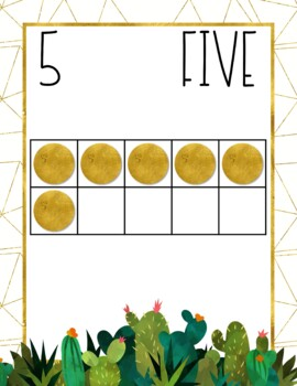 Golden Cactus Number Posters