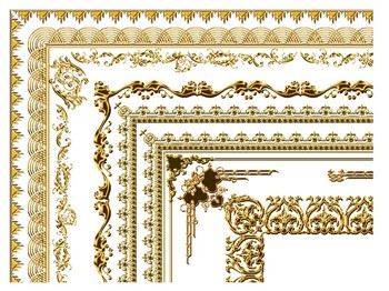 Golden Certificate Border