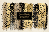 Golden Cheetah Brush Strokes Clipart