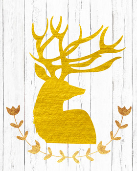 Golden Christmas Poster Decor