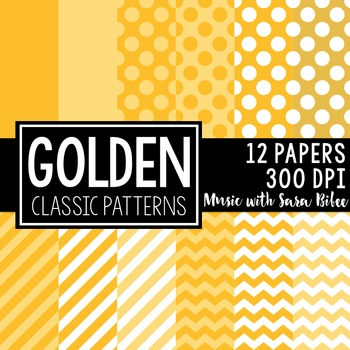 Golden Classic Designs- 12 Digital Papers